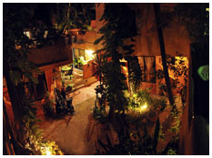 night garden at playa del carmen